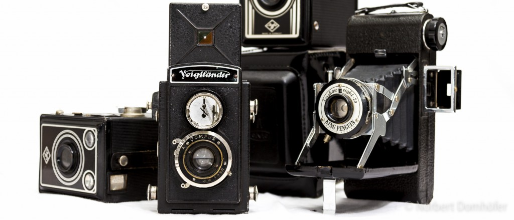 Antike Fotoapparate © Norbert Domhoefer - nhd-photo.de